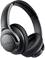Anker Soundcore Life Q20 Over Ear Bluetooth Headphones With 40H Playtime, Noise Cancelling, Hi-Res Audio, Deep