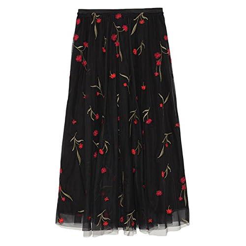 [ミラオーウェン]刺繍チュールロングスカート 09WFS181026  ウィメンズ MIX 日本 0-(日本サイズ7 号相当)