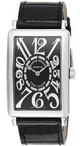 [フランクミュラー]FRANCK MULLER 腕時計 ロングアイランド ブラック文字盤 クロコ革 1002QZREL BLK BLK メンズ 【並行輸入品】