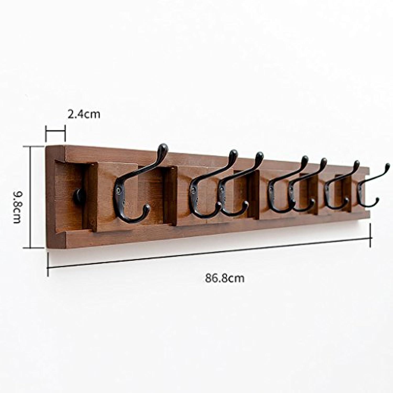 ベッドルームシンプルウォールコートラック、壁掛けハットラック、クリエイティブエントランスシェルフ、ソリッドウッドコートラック (サイズ さいず : E86.8 * 9.8 * 2.4cm)