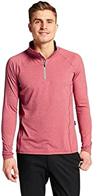 Solbari UPF 50+ Men's Sun Protection Fitness Quarter Zip Top - UV Protection, Sun Protec