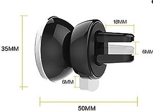 MIDWEC2点セット スマホ車載ホルダー  360度回転  エアコン吹き出し口用(ブラック)