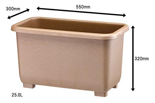 大和プラスチック eco&eco ウインプランター 深55型 550×300×H320 エコブラウン
