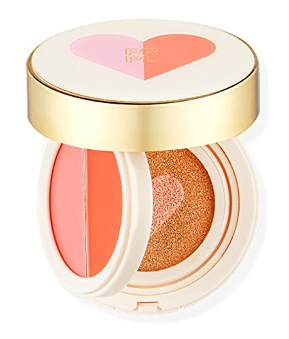 ファイナンスどんよりした大西洋PRPL 唇と頬の二重クッション (LIP&CHEEK[ピンク/オレンジ],ハートCUSHION SPF50+、PA+++) (#21 ピンク バニラ属)