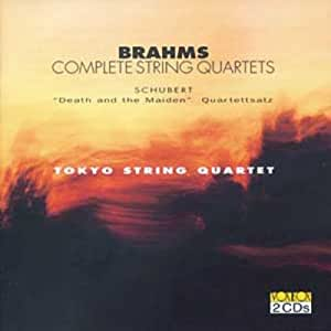 "BRAHMS/SCHUBERT:Brahms complete String Quartets, Schubert ""Death and the Maiden"", ""Quartettsatz"""