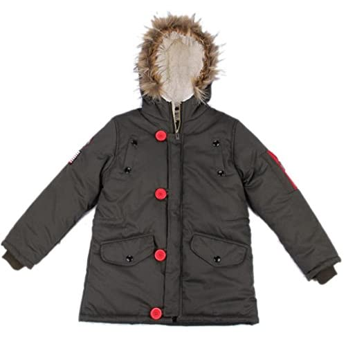 6a01055b3c9c5 (ラボーグ) La Vogue 男の子コート 子ども ジャケット アウターロング丈長袖 フード付きボアコート