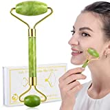 Jade Roller and Gua Sha Face Facial Roller for Face Massager Tool - Anti-Aging Treatment for Eyes Neck Massager for Beautiful Skin Care - Reduce Wrinkles and Fine Lines