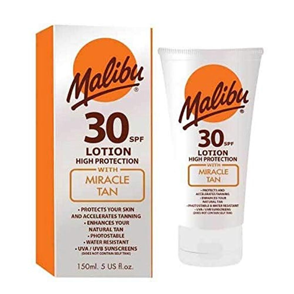 揮発性封筒誓約[Malibu ] マリブの奇跡日焼けSpf30ローション150ミリリットル - Malibu Miracle Tan SPF30 Lotion 150ml [並行輸入品]
