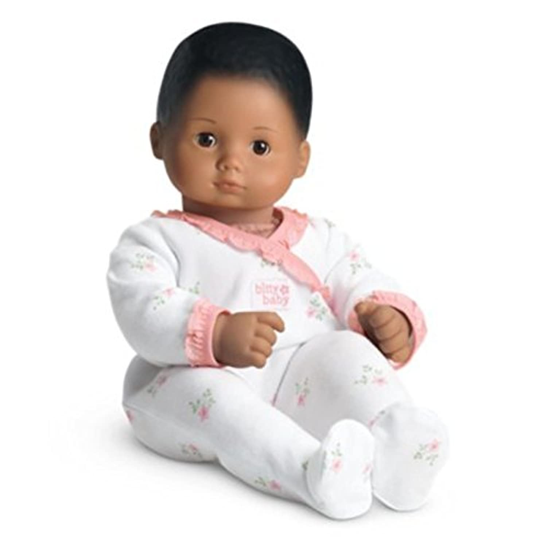 American Girl - Bitty Baby Doll Medium Skin Textured Dark Brown Hair Brown Eyes BB8 by American Girl
