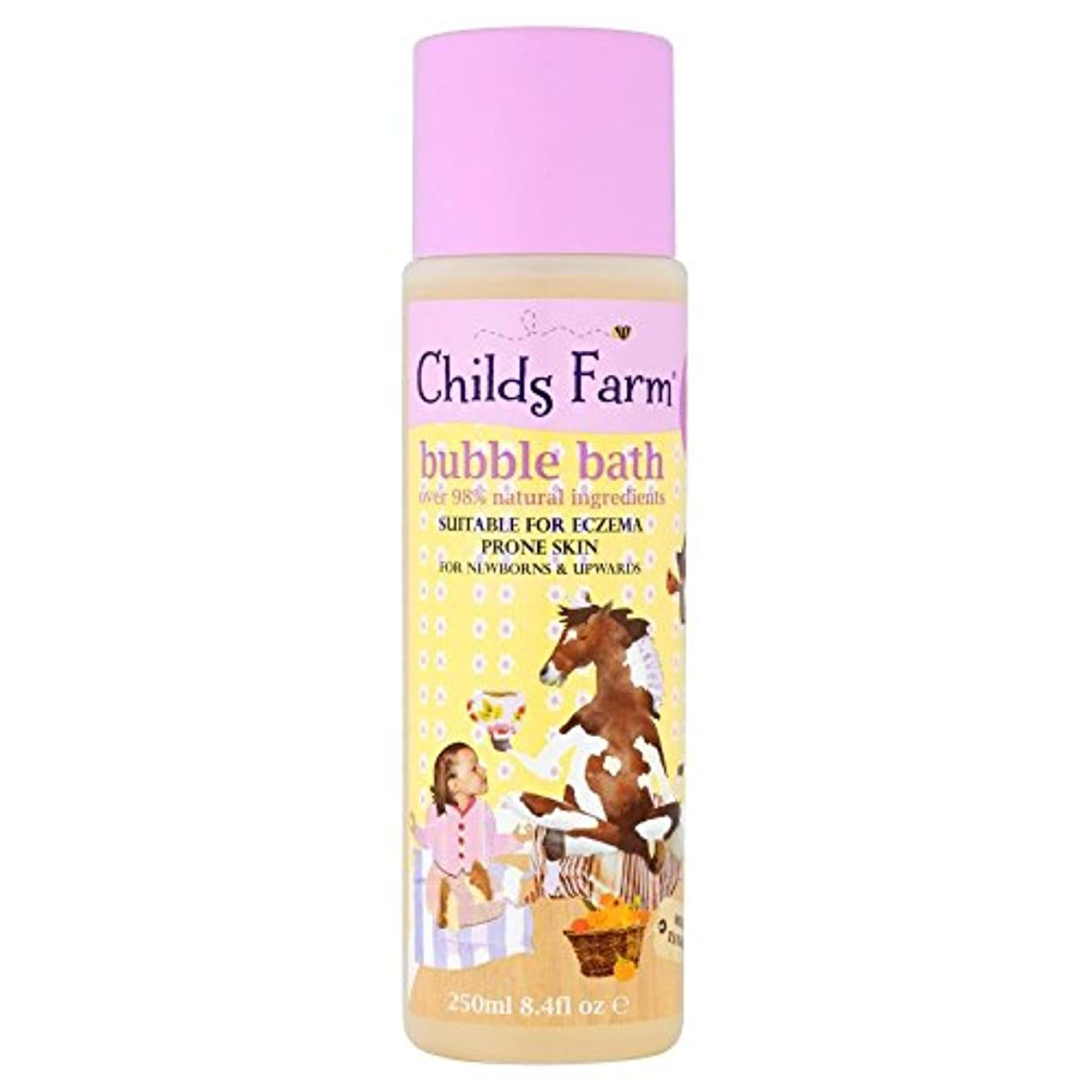 修正する虎セントChilds Farm Clean Calm & Collected Organic Tangerine Bubble Bath for Sweet Dreams (250ml) 甘い夢のためのチャイルズファームクリーン...