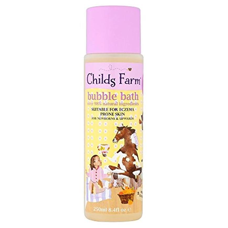 遵守するアルコール検出するChilds Farm Clean Calm & Collected Organic Tangerine Bubble Bath for Sweet Dreams (250ml) 甘い夢のためのチャイルズファームクリーン...