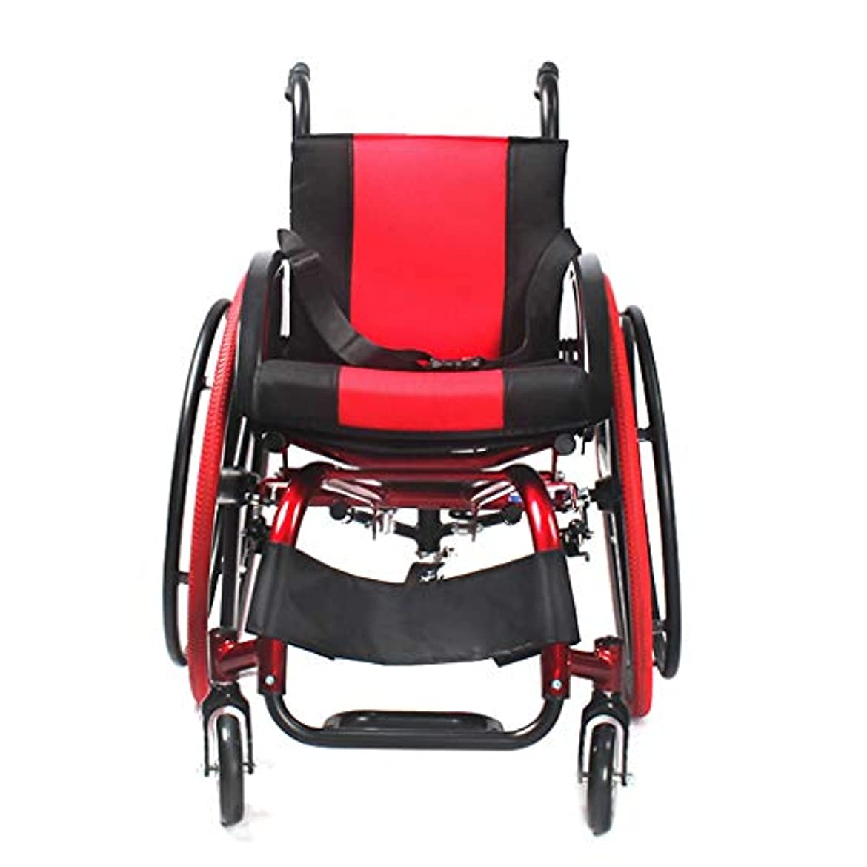 鳴り響くペパーミント肉の車椅子折りたたみライトとポータブル、アルミ合金アンチチルト、障害者用車椅子
