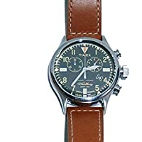 Todd Snyder + Timex + Red Wing トッドスナイダー タイメックス レッドウイング Exclusive Shoe Leather Chronograph エクスクルーシブ シューズ レザー クロノグラフ(BROWN)