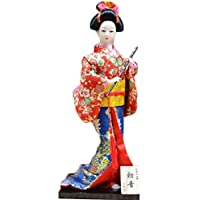 和風の美しい着物芸者/舞妓人形/ギフト/ジュエリー-A18