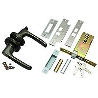 ハイロジック:玄関インテグラル錠 レバータイプ ブロンズ バックセット100mm NP-CL-123-B