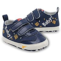 ChiChiMao Infant Toddler Baby Boys Girls Soft Sole Canvas Sneakers First Walkers Shoes(0-18 Months)