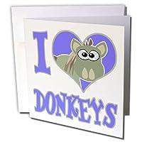 Dooni Designs Goofkins文字–I Heart Loveロバ漫画–グリーティングカード Set of 6 Greeting Cards