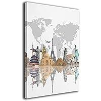 絵画 装飾絵画 アートパネル インテリア絵画 世界地図 ポスター ウォールアート 壁掛け 部屋 装飾 壁絵 アート おしゃれ フレームレス装飾 額縁なし