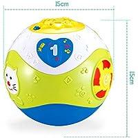 YChoice 可愛い赤ちゃんのおもちゃ ギフト 子供の創造的な音楽のクロールボール おもちゃボール 電動パズル 音楽ダンシングボール