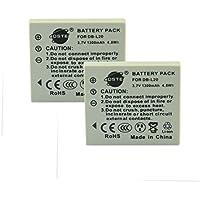 DSTE® アクセサリ Sanyo DB-L20 互換 カメラ バッテリー 2個 対応機種 VPC-C40 VPC-CA65 VPC-CA9 VPC-CG65 VPC-E7 VPC-S7