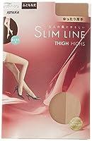 (アツギ)ATSUGI ストッキング SLIM LINE(スリムライン) 厚手 ふともも丈ストッキング クチゴムゆったり〈3足組〉 FT5550 344 ビスクベージュ 22~25cm