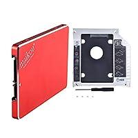 SM SunniMix 高性能 2.5 360GB SATA SSD内蔵ソリッドステートドライブ 9.5mm光学ベイキャディ 赤