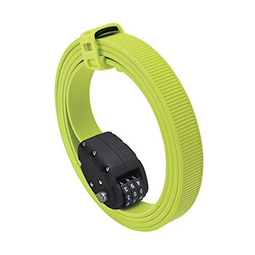 OTTOLOCK(オットロック) Cinch Steel & Kevlar Combination Lightweight Lock - Flash Green [Size: 152cm(60 Inch)] [並行輸入品]