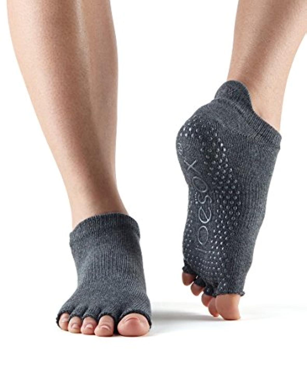 ToeSoxレディースグリップHalf Toe Low Rise Socks M グレー