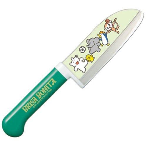 藤次郎 ブリサ・ボニータ 子供用クッキングナイフ 115mm グリーン