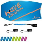 Own the Wave 'Beach Attack Pack' - Wave Weapon Super Lightweight Body-Board - Comes with Premium Wrist Leash and Swim Fin Tet