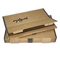 FiberboardポートフォリオW /メタルTurnbuckles、1–1/」「キャップ、42–1/ 4x 30–1/ 4、Sand / BLK