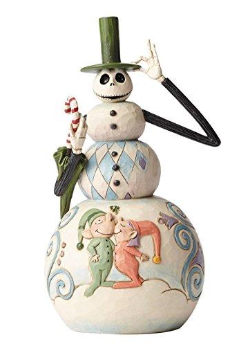 エネスコ ディズニー・トラディションズ/ NBC ナイトメア・ビフォア・クリスマス: ジャック・スケリントン スノーマン スタチュー