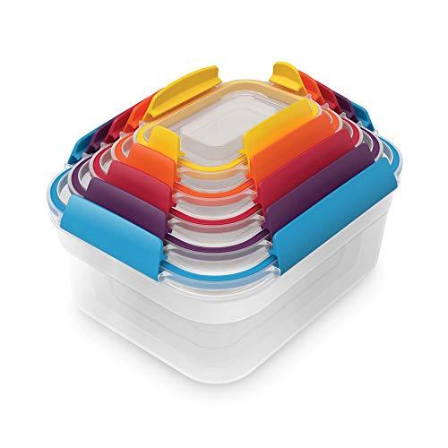 Joseph Joseph 食品保存容器 マルチカラー 230 ml / 540 ml / 1.1 L / 1.85 L / 3 L ネストロック 5ピースセット 81081