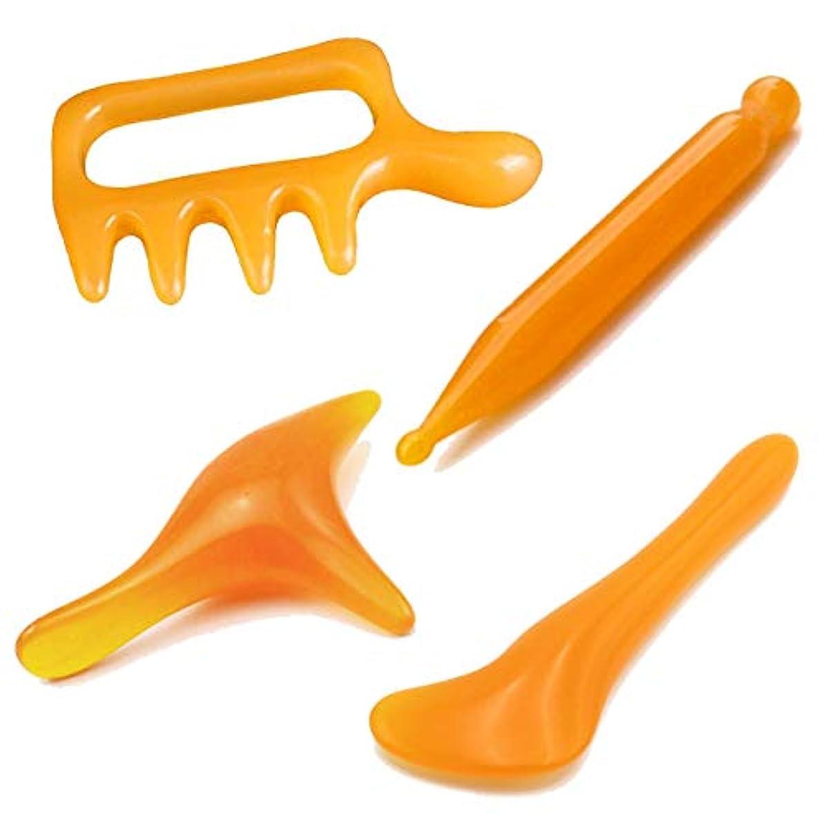 可塑性伝染性のビジネスHAMILO ツボ押し 足つぼ マッサージャー マッサージ棒 手の平サイズ かっさ 押しやすい (4種セット)