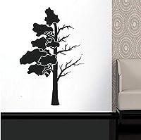 ftmxy 木の幹枝葉壁の装飾窓ステッカービニール手作りシンプルなリビングルームの装飾diy壁画57×87センチ