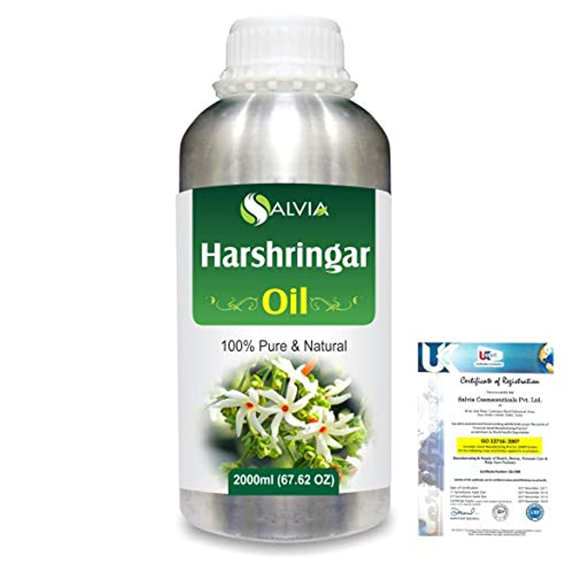 動機ご注意柔らかいHarshringar (Nyctanthes arbor-tristis) 100% Natural Pure Essential Oil 2000ml/67 fl.oz.