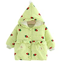 BOZEVON Baby Girls Cloak Hooded Outerwear - Newborn Infant Baby Girl Cotton Warm Autumn Winter Warm Coats