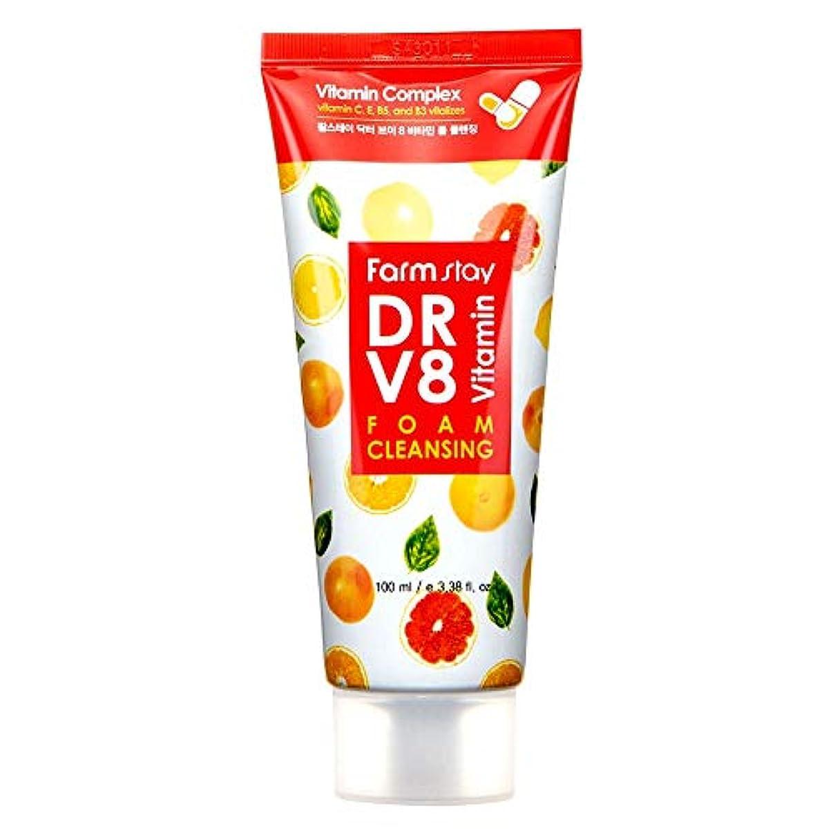 ガラスアルバニーダンスファームステイ[Farm Stay] Dr.V8 ビタミンフォームクレンジング 100ml / Vitamin Foam Cleansing