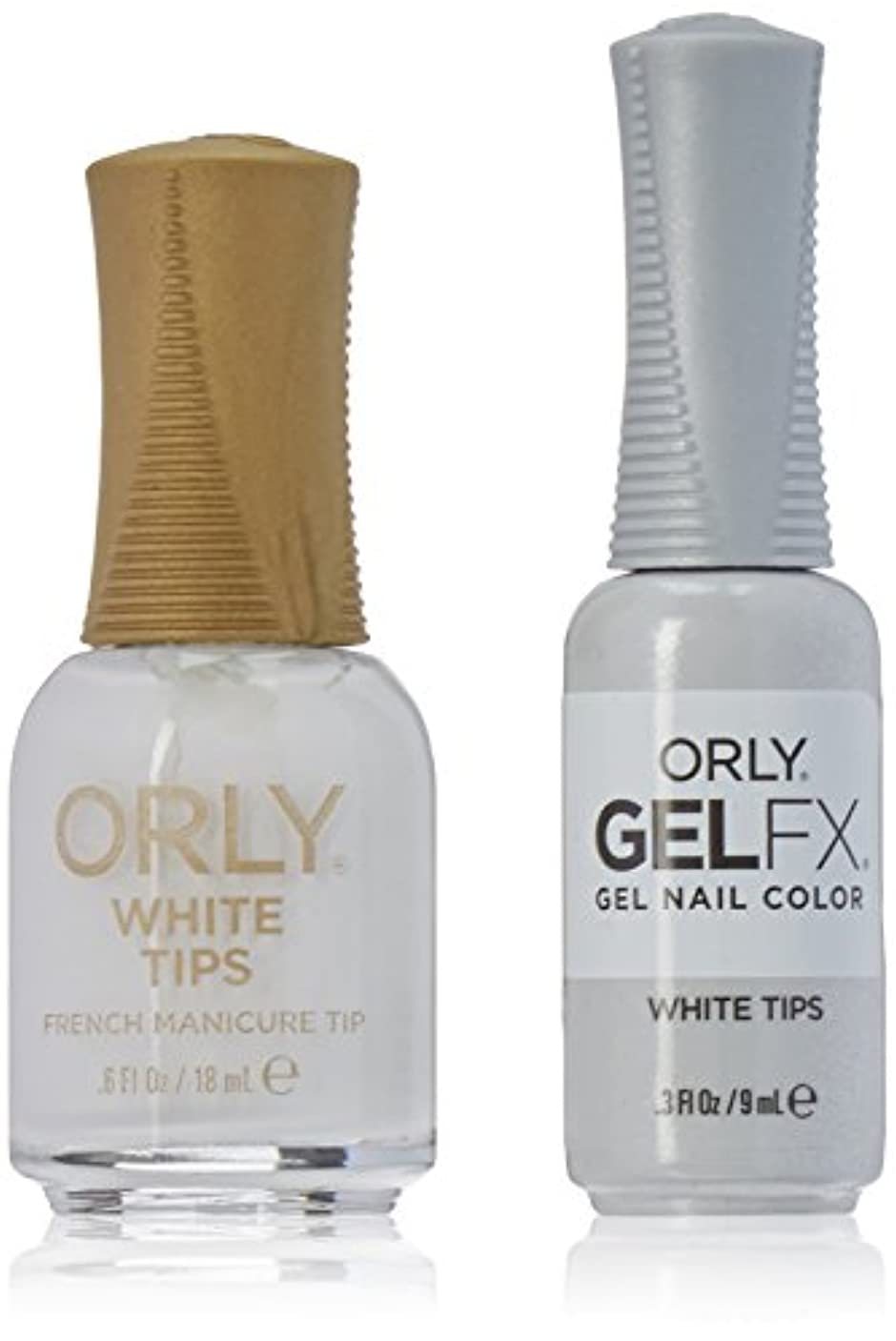 に付ける消す粘り強いOrly Nail Lacquer + Gel FX - Perfect Pair Matching DUO - White Tips