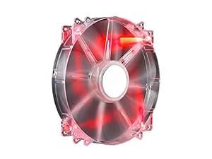 Cooler Master MegaFlow 200 Red LED, Silent Fan ケースファン 日本正規代理店品 R4-LUS-07AR-GP