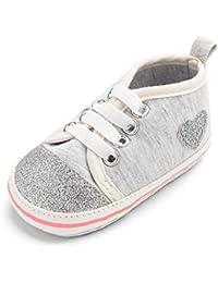 Mangjiu きらきら ハート 赤ちゃん妊娠 出産 お祝い室内靴 学步靴 滑り止め 運動靴 幼児靴