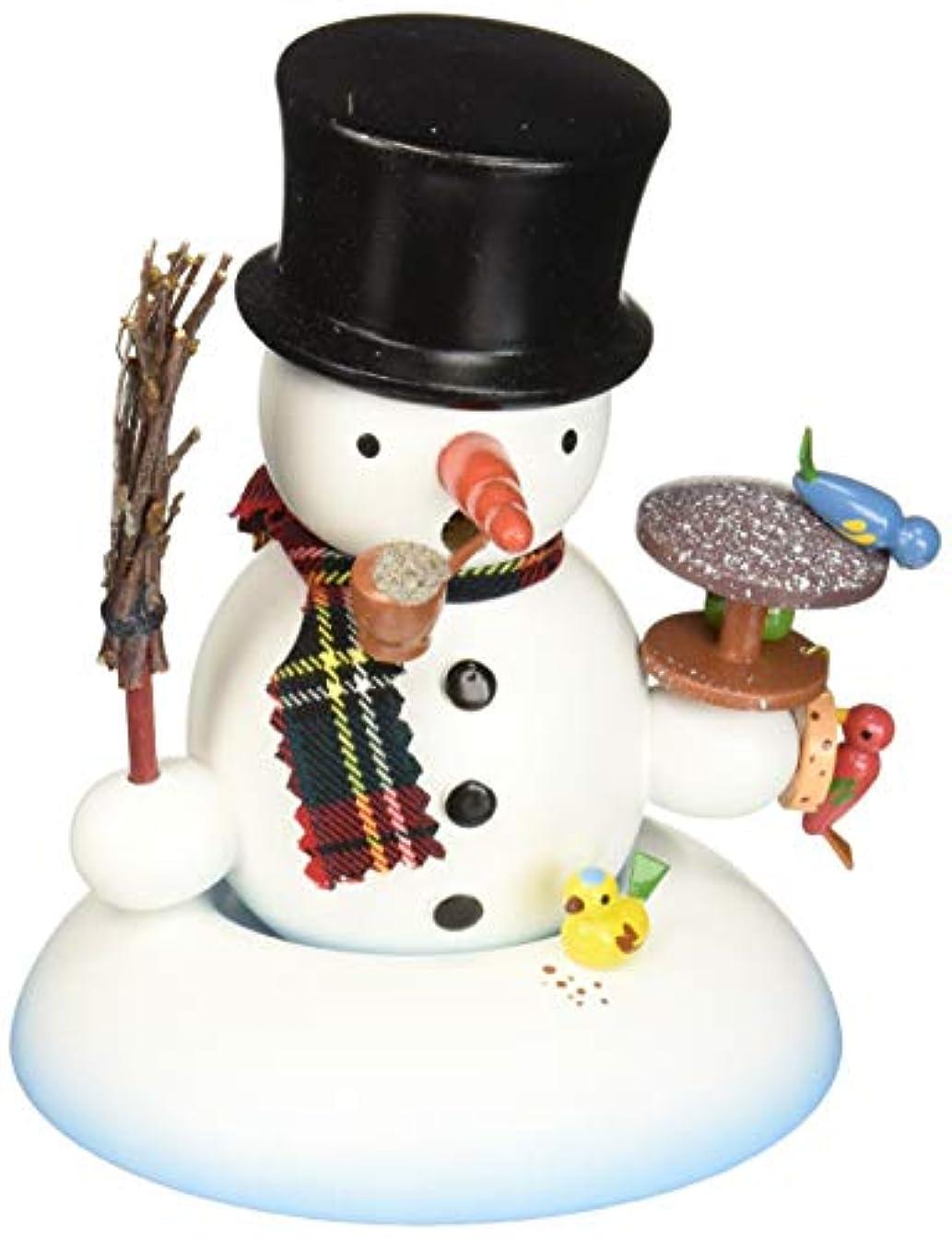 無許可症状一掃するAlexandor TaronホームDecor Dregeno Snowman with Birds Incense Burner 5.5