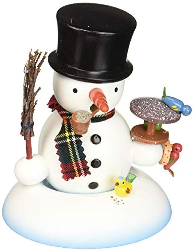 スケート品軽蔑するAlexandor TaronホームDecor Dregeno Snowman with Birds Incense Burner 5.5