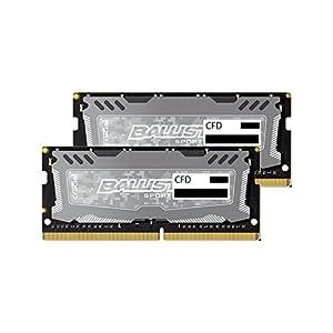 CFD販売 ノートPC用メモリ PC4-19200(DDR4-2400) 8GBx2枚 260pin (無期限保証)(Ballistix by Micron) W4N2400BMS-8G