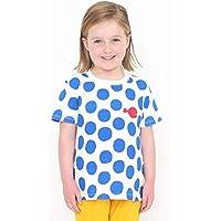 (グラニフ) graniph キッズ Tシャツ きんぎょがにげたドット (五味太郎) (ブルー) キッズ