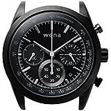 [wena project] Chronograph Solar Premium Black Head WH-CS01/B