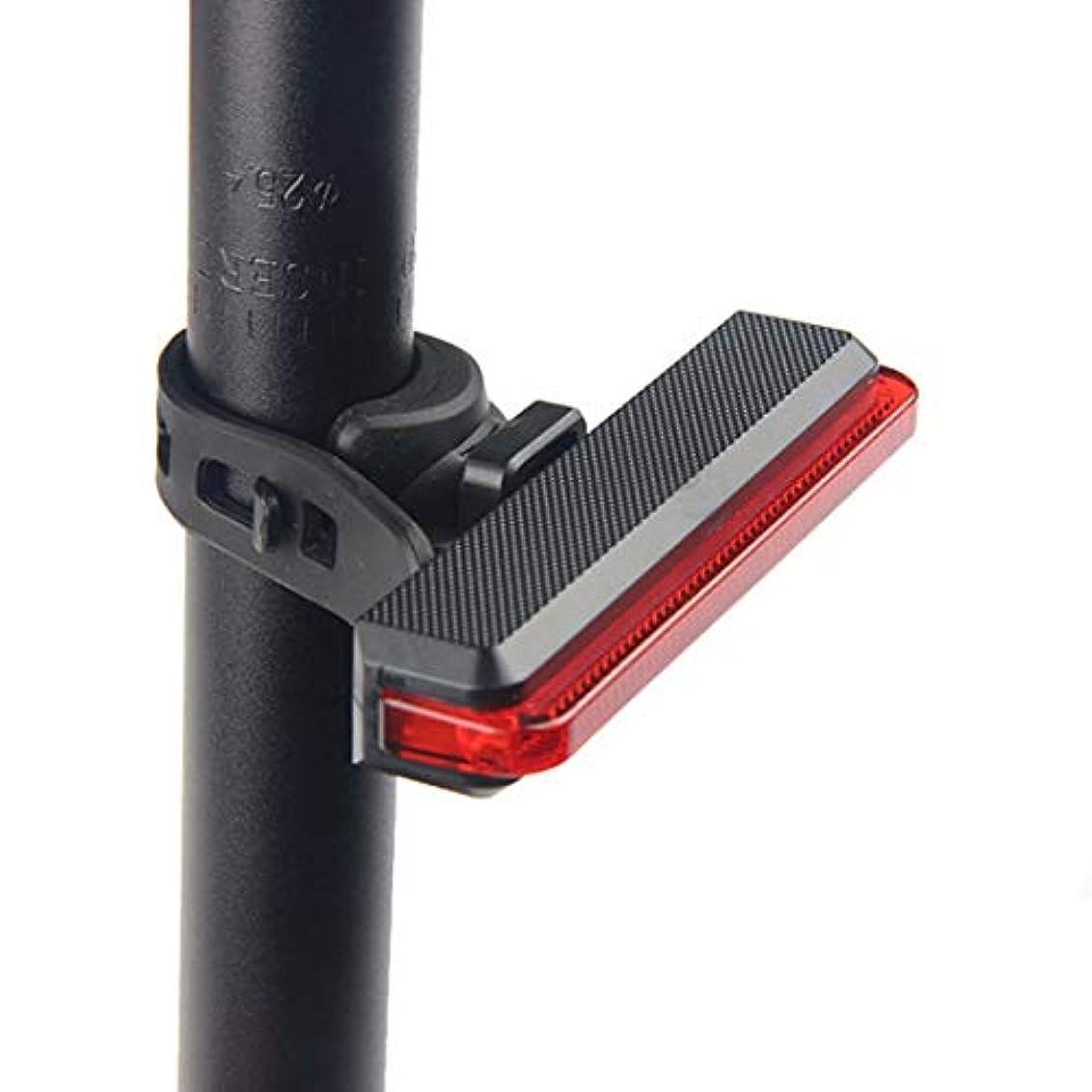 細分化する苦味闇CAFUTY 自転車の灯台マウンテンバイクロングストリップの安全警告灯屋外バックパックライト (Color : レッド)