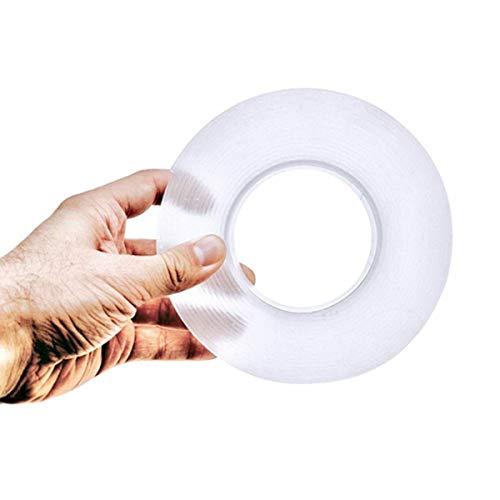OTOKU テープ 両面テープ 魔法テープ のり残らず 繰り返し 防水 耐熱 強力 滑り止め 洗濯可能 多機能 多サイズ 家庭 オフィス 寮 学校 会社 工業用など (3cmx2mmx1m)