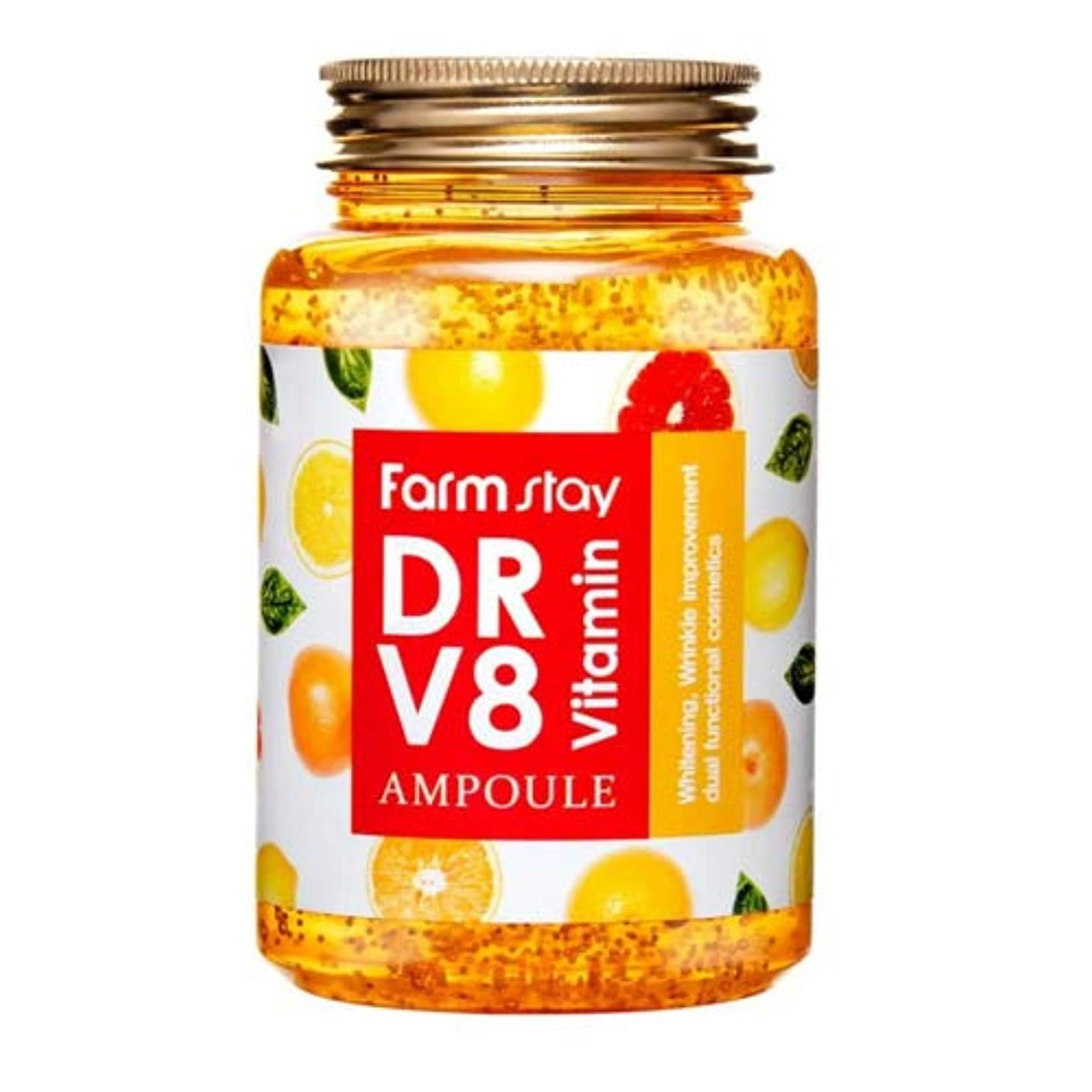 マーキング光電人種Farm stay Dr. V8 Vitamin Ample ビタミンアンプル250ml[並行輸入品]