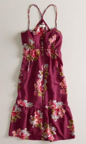レディース しっとりサマードレス AE Sweet Printed Sundress 【レッド・サイズ2】並行輸入品 アメリカンイーグルアウトフィッターズ